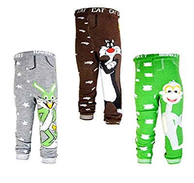 [Backbuy] 3 Pants 0-24 Months Baby Boys Toddler Leggings trousers Knitted pants N2N3N8 (12-18 Months) from Backbuy
