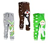 [backbuy] 3pantalones infantil niños de bebé 0-24meses Leggings pantalones punto pantalones n2N3n8 Talla:18-24 meses