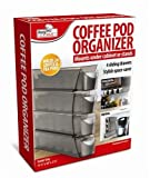 Coffee-Pod-Organizer-Hold-24-Pods-Mounts-under-Cabinet-Or-stands-Sliding-Drawers