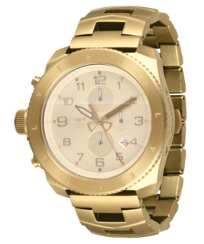 Vestal Men's RES003 Restrictor All Gold Chronograph Dive Watch