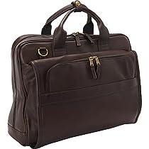 Clava Leather Top Handle Accordian Brief (Vachetta Cafe)