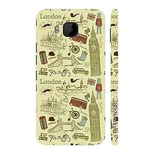 Enthopia Designer Hardshell Case London Love Back Cover for HTC One M9