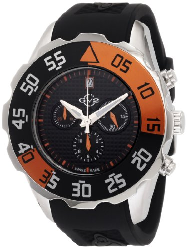 GV2 by Gevril Men's 3002R Parachute Chronograph Rubber Date Watch