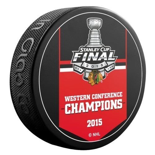 2015 Chicago Blackhawks NHL Stanley Cup Western Conference Champions Hockey Puck (Sherwood) chicago blackhawks 2013 nhl stanley cup champions souvenir hockey puck