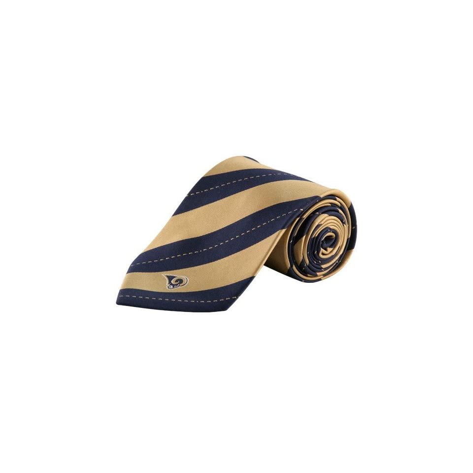 NFL Colony Sportswear St. Louis Rams Gold Navy Blue Rep Stripe Tie
