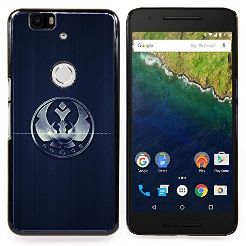 GIFT CHOICE / Slim Hard Protective Case SmartPhone Shell Cell Phone Cover for Huawei Google Nexus 6P // Crown Sign Badge Mark Simple Black Emblem // (Google Chrome Badge compare prices)