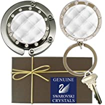 Chatt Clear Folding Hook & LED Key Chain w/ Swarovsk PP24 Crystals in Gift Box
