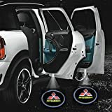 2 X 2014 Latest 6th Gen car door Shadow laser projector logo LED light for mitsubishi all series Pajero lancer evolution 3000gt outlander Sport eclipse l200 asx RVR evo montero
