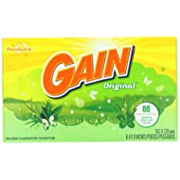 Gain With Freshlock Original Dryer Sheets 80 Count