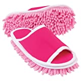 51QFi05pcAL. SL160  Slipper Genie Microfiber Cleaning Slippers, Pink