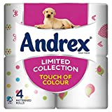 Andrex Limited Collection Bold & Bright Toilet Tissue Rolls - 160 Sheets per Roll (4)