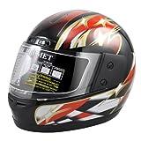 #6: ★★★Smallwise Trading HOT!!! 4 Größe Fashion Crosshelm Cool Sport-Schutzhelm Motorradhelm Integralhelm mit Schutzbrille★★★