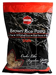 Baron\'s Kosher 100% Whole Grain Brown Rice Pasta Gluten Free Shells 12-ounce (Pack of 3)