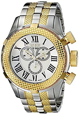Invicta Men's 17435 Bolt Analog Display Swiss Quartz Two Tone Watch