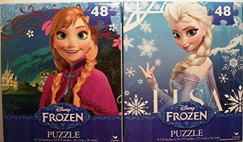 Disney Frozen Puzzles (Elsa & Anna) - 2 Boxes (48 Pieces Each)