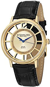 Stuhrling Original Men's 388S.333531 Winchester Swiss Quartz Transparent Set