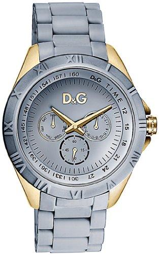 Dolce & Gabbana D&G Dolce&Gabbana - Reloj analógico de cuarzo para mujer con correa de caucho, color azul