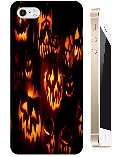 Apple Accessories Helloween Design Special Terrible Picture Pumpkin Cell Phone Cases For Iphone 5/5S No.2