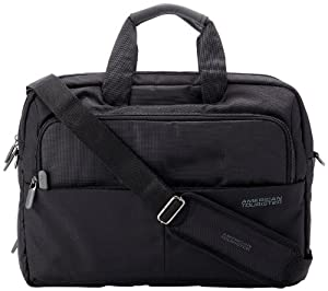 American tourister speed nylon 13 ltrs black laptop briefcase 23z 0 09 010 - American tourister office bags ...