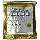 Yaki Nori Gold Roasted Seaweed Half Cut, 100-Count Units (Pack of 2)