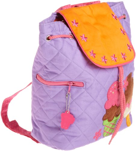 Stephen Joseph Girls 2-6X Quilted Backpack, Ice Cream, One Size