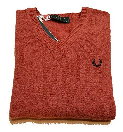 Maglia Uomo Men Fred Perry Made In Italy maglione Lana 100% Wool scollo V neck (s)