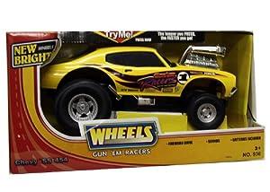 com: New Bright Wheels Gun Em Racers Yellow Chevy SS 454: Toys & Games