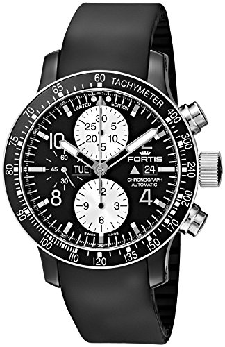 Fortis-Mens-6651271-K-B-42-Stratoliner-Chronograph-Analog-Display-Automatic-Self-Wind-Black-Watch
