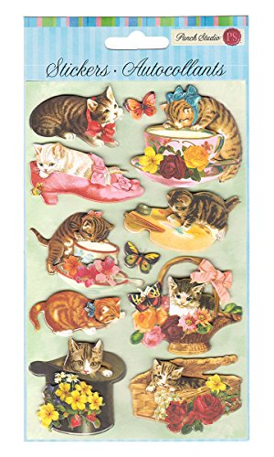 Punch Studio Everyday Dimensional Stickers - Kittens (63319) - 1