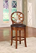 400 lbs Capacity Commecial Grade Cherry Solid Wood Over Size Bar Stool w/ Back