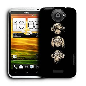 Snoogg Gandhiji'S Three Monkey Designer Protective Back Case Cover For HTC ONE X