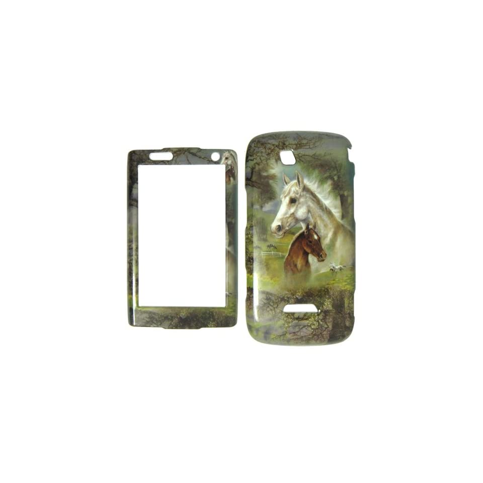 Samsung Sidekick 4G T839 T Mobile   Horses & Trees Colorful Painting Hard Case, Cover, Snap On, Faceplate