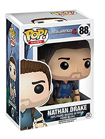 Import Europe - Figura Pop! Nathan Drake Uncharted, Color Azul