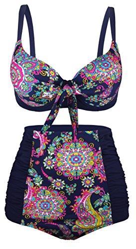 Angerella Women Swimsuit Swimwear Two Piece Bathing Suit (BKI038-N1-3XL)