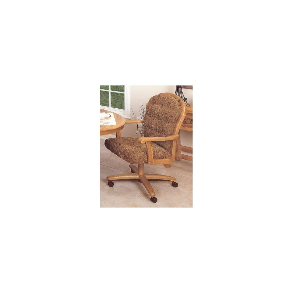 Outstanding The Chromcraft C183936 Swivel Tilt Caster Arm Chair Is Machost Co Dining Chair Design Ideas Machostcouk