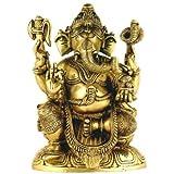 """Redbag Lord Ganesh - Brass Sculpture ( 9.50""""H X 6.75""""W X 3.35""""D )"""