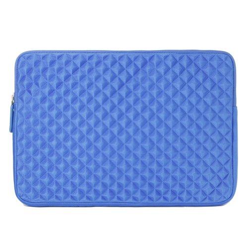 "EveCase 11.6"" ~ 12.5"" Chromebook/ Ultrabook Notebook Diamond Foam Splash & Shock Resistant Neoprene Sleeve Case Travel Bag (Blue)"