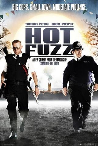 Posters: Hot Fuzz Poster - Big Cops, Small Town, One Sheet (36 x 24 inches)