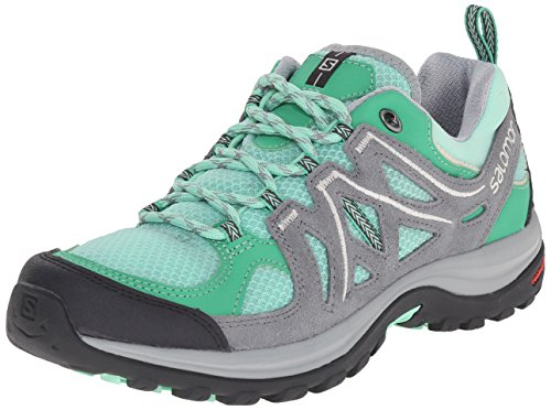 Salomon Women's Ellipse 2 Aero W Hiking Shoe, Lucite Green/Pearl Grey/Light Grey, 6.5 B US