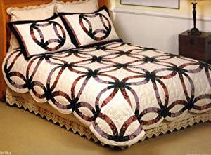 Double Wedding Ring Patwork Quilt Set King (3 Pcs)