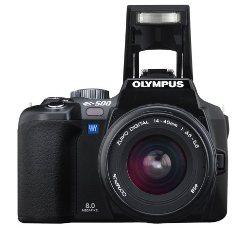 Olympus E500 Kit DSLR with 14-45mm lens [equiv. 28-90mm] [8MP]