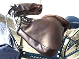 (nakira) 簡単取付 ハンドルカバー 自転車 バイク 防寒 (パイプハンドル向け) ハンドルウォーマー (ブラウン 茶)