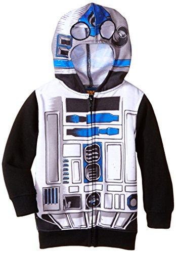 [Star Wars Little Boys' R2D2 Hoodie, White, 3T] (R2d2 Costume Pattern)