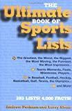 img - for The Ultimate Book of Sports Lists [Hardcover] [2003] (Author) Andrew Postman, Larry Stone book / textbook / text book
