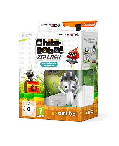 Amiibo Chibi-Robo Pack + Chibi Robo! Zip Lash - Nintendo 3DS - Limited Edition