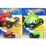 Hot Wheels Angry Birds RED BIRD & MINION PIG