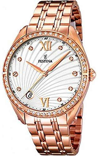 Festina de mujer reloj de pulsera clásico Mademoiselle analógico de cuarzo Acero inoxidable f16896/1