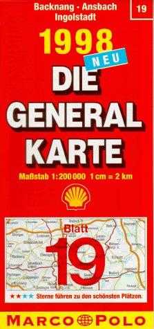 Generalkarte Deutschland 19. Backnang, Ansbach,