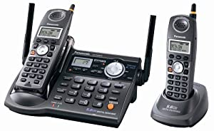 Panasonic KX-TG5672B 5.8 GHz FHSS GigaRange  Digital Cordless Answering System with Dual Handsets