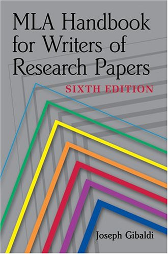 Image for MLA Handbook for Writers of Research Papers, Sixth Edition